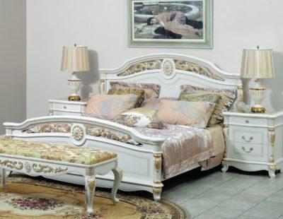 Спальня Афина (AFINA) Белая с золотом